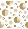 seamless pattern with gold circles vector image vector image