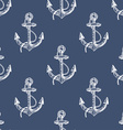 Seamless pattern with hand drawn anchors vector image vector image