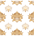 Seamless pattern with lotus flowers hand drawn vector image vector image
