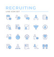 set color line icons recruiting vector image vector image