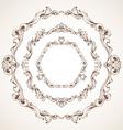 set of circle vintage sepia frames vector image