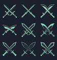 Set of heraldic swords and sabres for heraldry vector image vector image