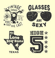 set various vintage t-shirt print stamp for t vector image vector image