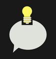speech bubble and lamp idea doodle cute miniature vector image