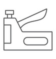 staple gun thin line icon tool and repair vector image vector image