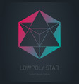star with pyramid inside design element modern vector image