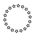 Stars in circle vector image vector image
