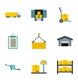 Store icons set flat style vector image vector image
