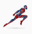 superhero flying action cartoon superhero vector image