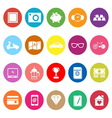 The useful collection flat icons on white vector image vector image
