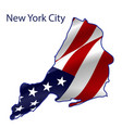 united states new york city full american flag vector image