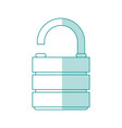 unlocked lock desigb vector image