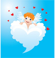 Valentines Day Card with funny angel vector image vector image