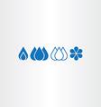 water drop set icons vector image vector image