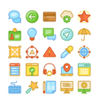 Web Design and Development Colored Icons 4 vector image vector image