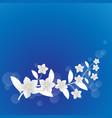 white flower background vector image vector image