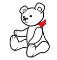 white teddy bear vector image vector image