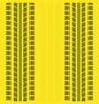 yellow lines tire track background vector image