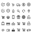 E-commerce outline icon set vector image