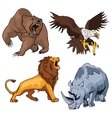 Safari terrifying feline lion with tail and vector image