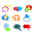 chat and communication icons vector image