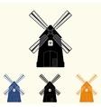 different windmills set vector image