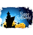 Abstract Halloween Card vector image