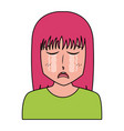 anime girl manga portrait character vector image vector image