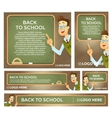 Back to school banner set different sizes vector image vector image