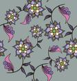 Beautiful hand drawn seamless pattern vector image vector image