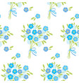 blue tender forget-me-not flowers in retro style vector image vector image