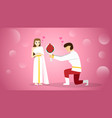 bride and groom in traditional thai costumes vector image vector image