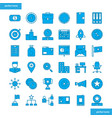 business element blue icons set style vector image vector image