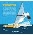 Cartoon happy dog rides windsurfing vector image