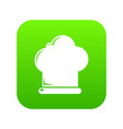 chef hat icon green vector image vector image