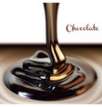 chocolate advertising design with a glossy stream vector image vector image