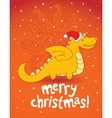 christmas dragon vector image vector image
