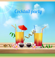cocktail party celebration vector image vector image