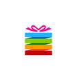 color gift logo icon design vector image