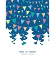 colorful doodle bunting flags Christmas tree vector image