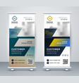 company rollup business banner design vector image vector image