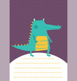 crocodile card vector image vector image