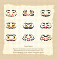 daruma dolls cute emotional faces vector image vector image
