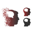 dust pixel halftone person thinking icon vector image