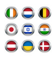flag buttons set 2 vector image