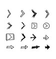 flat set of arrows indicating direction vector image vector image