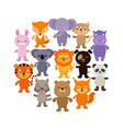 forest savana and jungle baanimals cartoon vector image vector image
