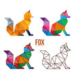 fox low poly design vector image