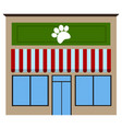 front view of a pet shop vector image vector image