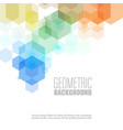 geometric hexagon shape elements multicolor design vector image